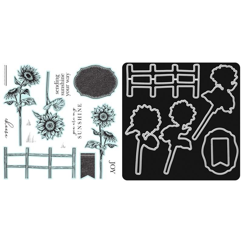 CTMH Joyful Sunflower Stamp + Thin Cuts