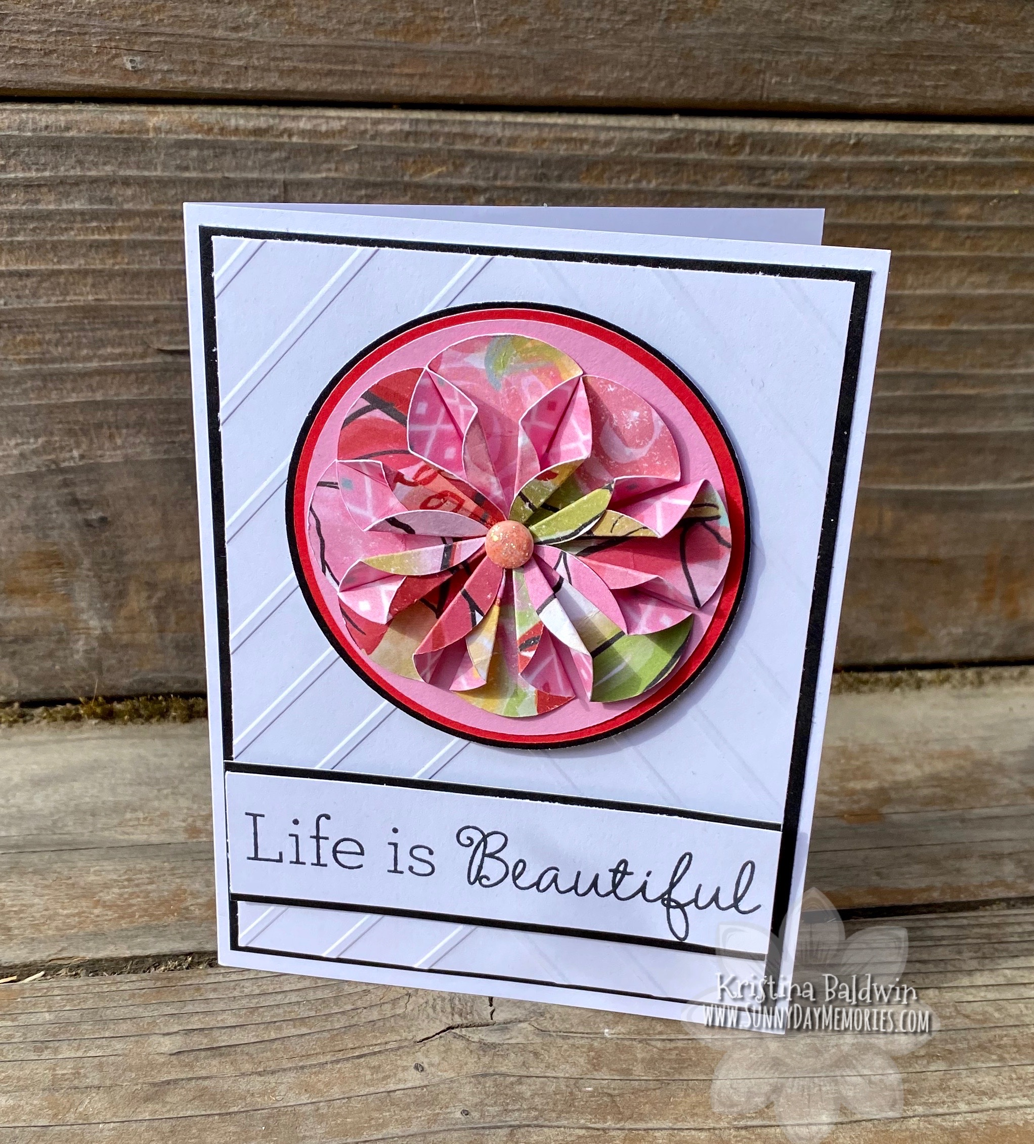 CTMH Brushed Life Is Beautiful Card