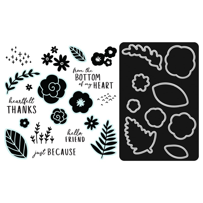 CTMH Simple Florals Stamp + Thin Cuts