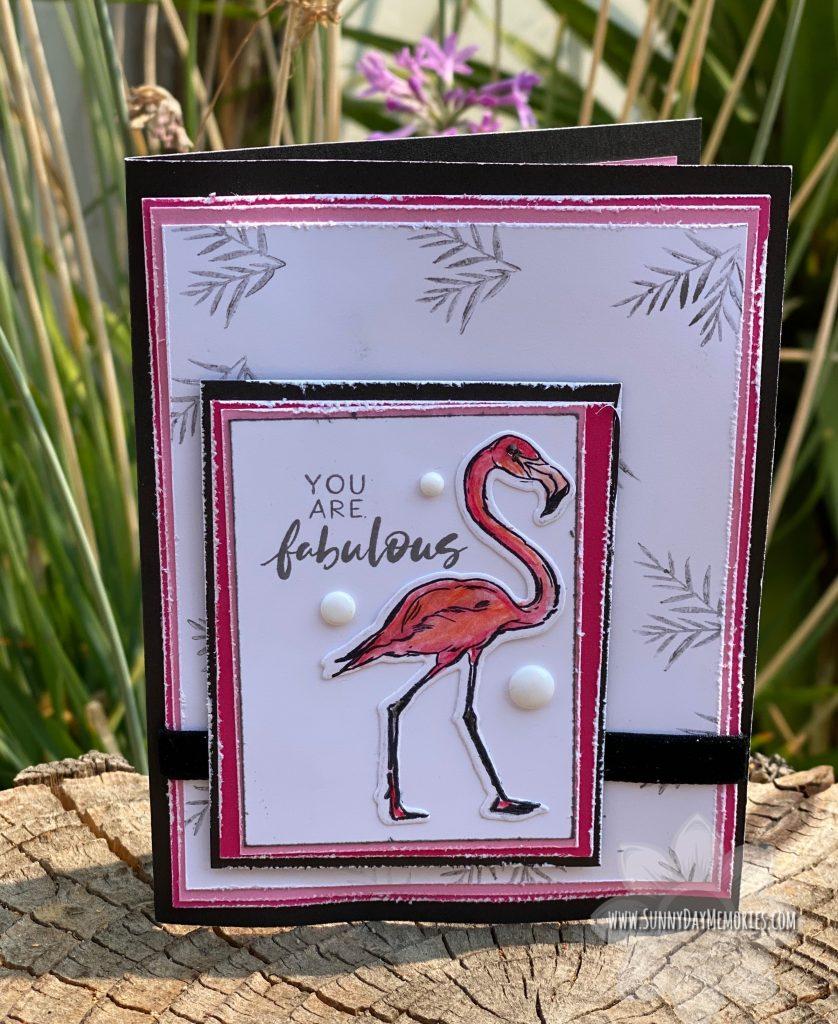 A Fabulous Flamingo Handmade Card