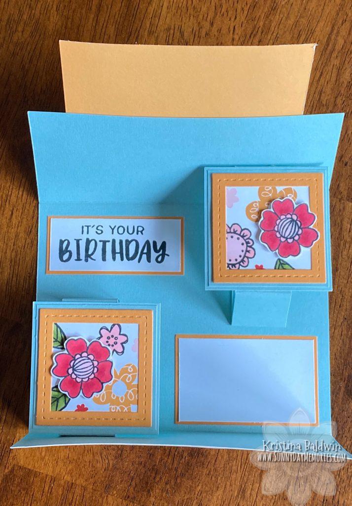 Celebrating You Gatefold Card Open