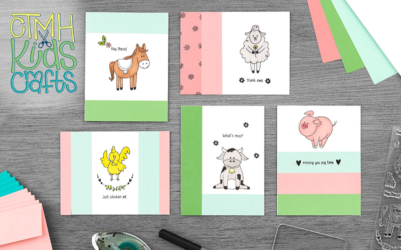 CTMH Kids Crafts Funny Farm Cards