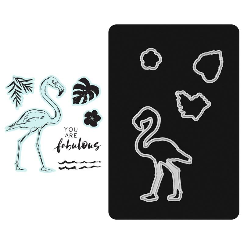 CTMH Fabulous Flamingo Stamp + Thin Cuts