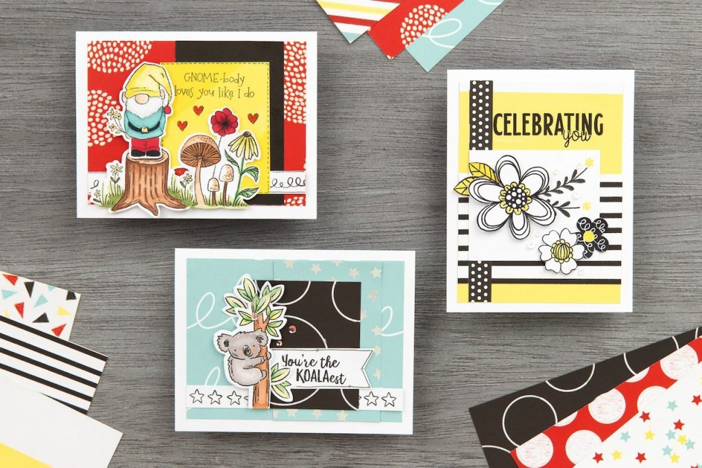 Cards from FREE Card Pattern from the Happiest Place Collection