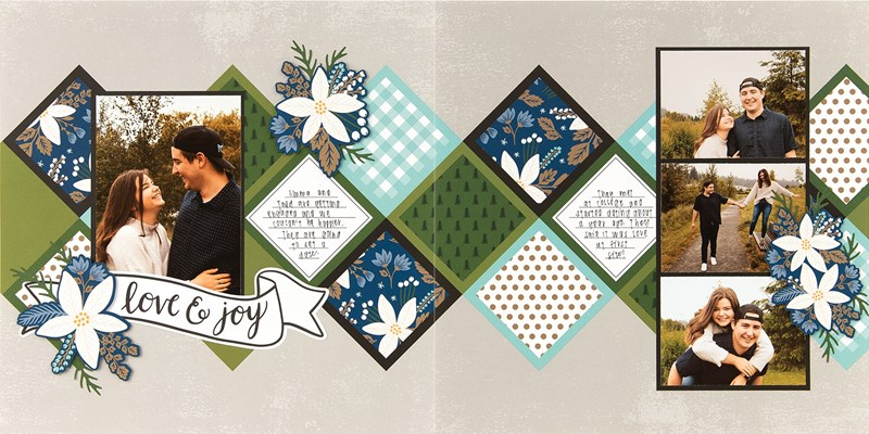 CTMH Craft with Heart December Scrapbook Layout 1