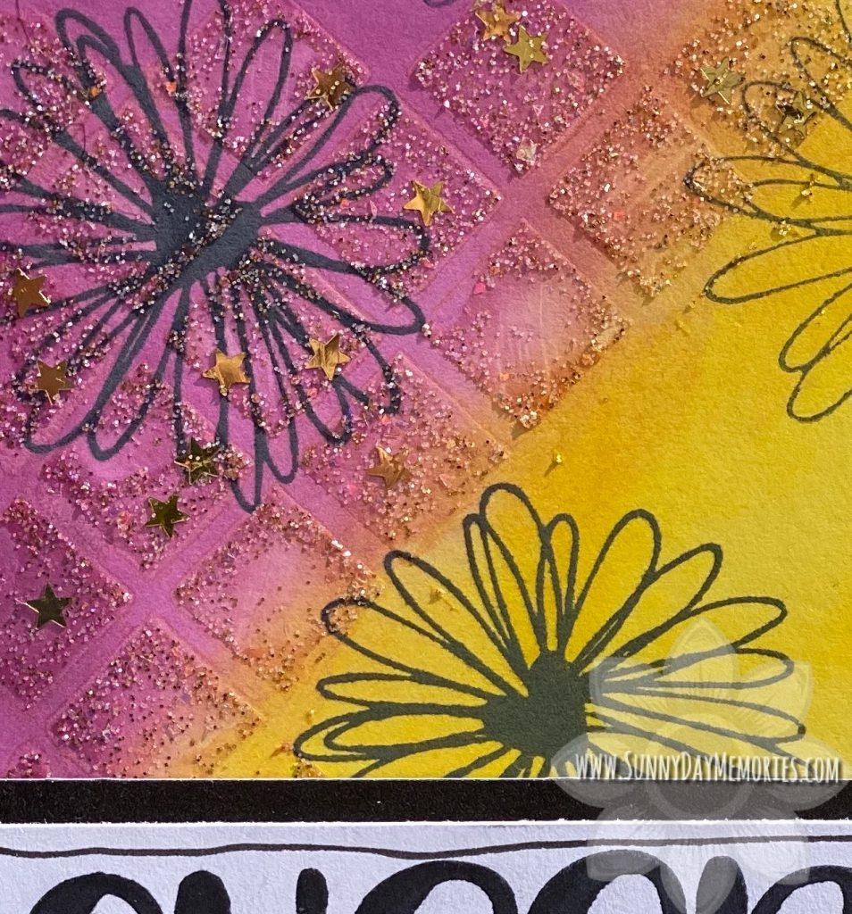 Cheers Mixed Media Card Closeup