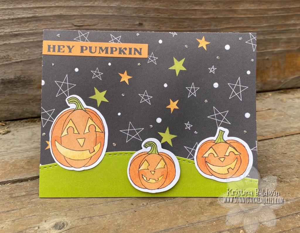 Hey Pumpkin Simple Halloween Card
