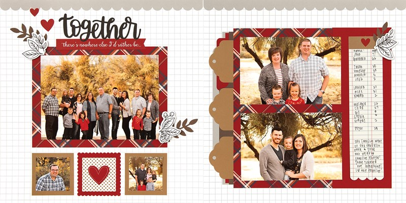 CTMH Craft with Heart November Scrapbooking Layout 2