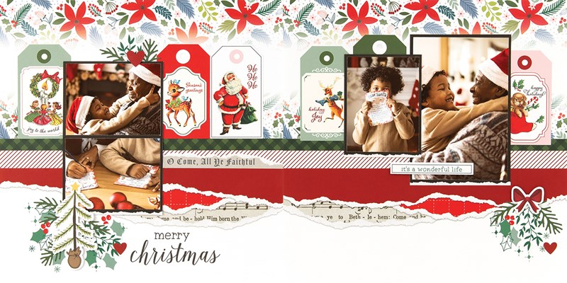 CTMH Craft with Heart December Scrapbook Layout 2