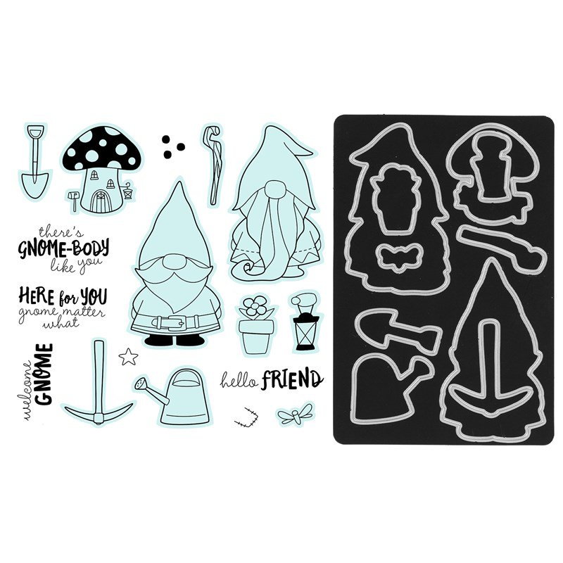 CTMH Garden Gnomes Stamp + Thin Cuts