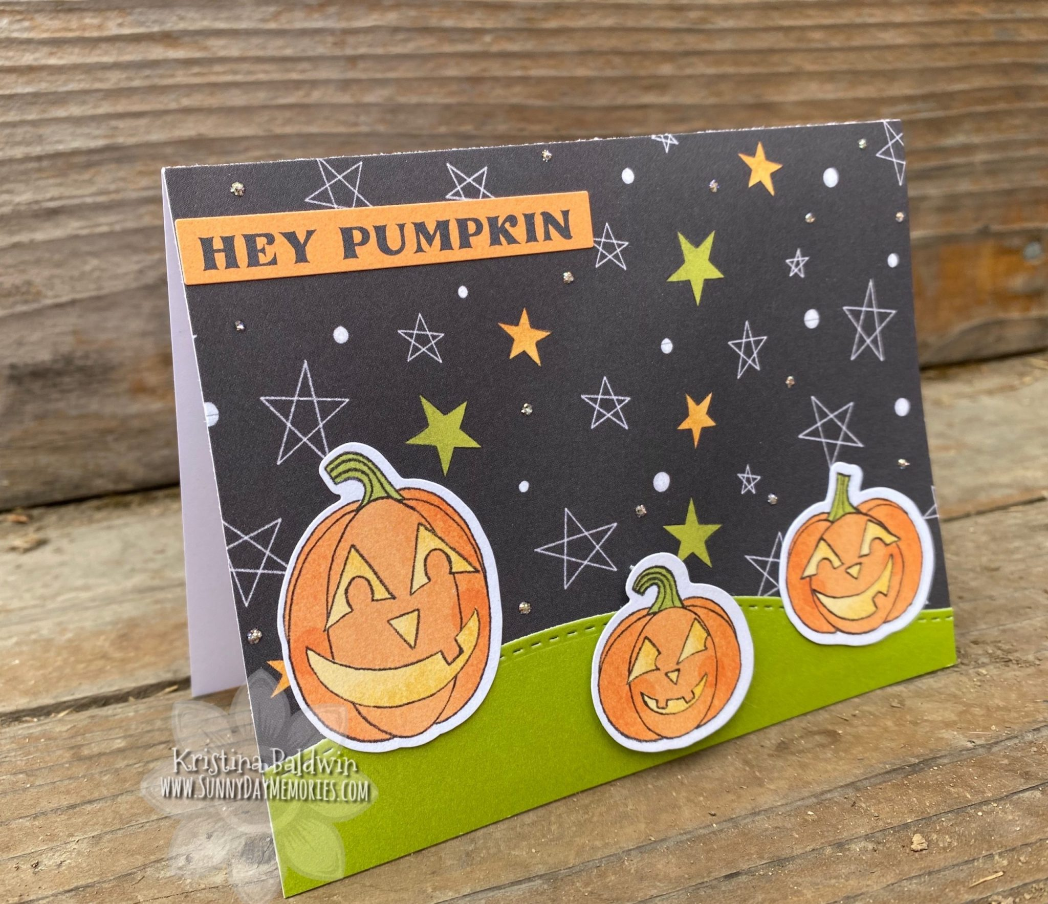 Hey Pumpkin Simple Halloween Card
