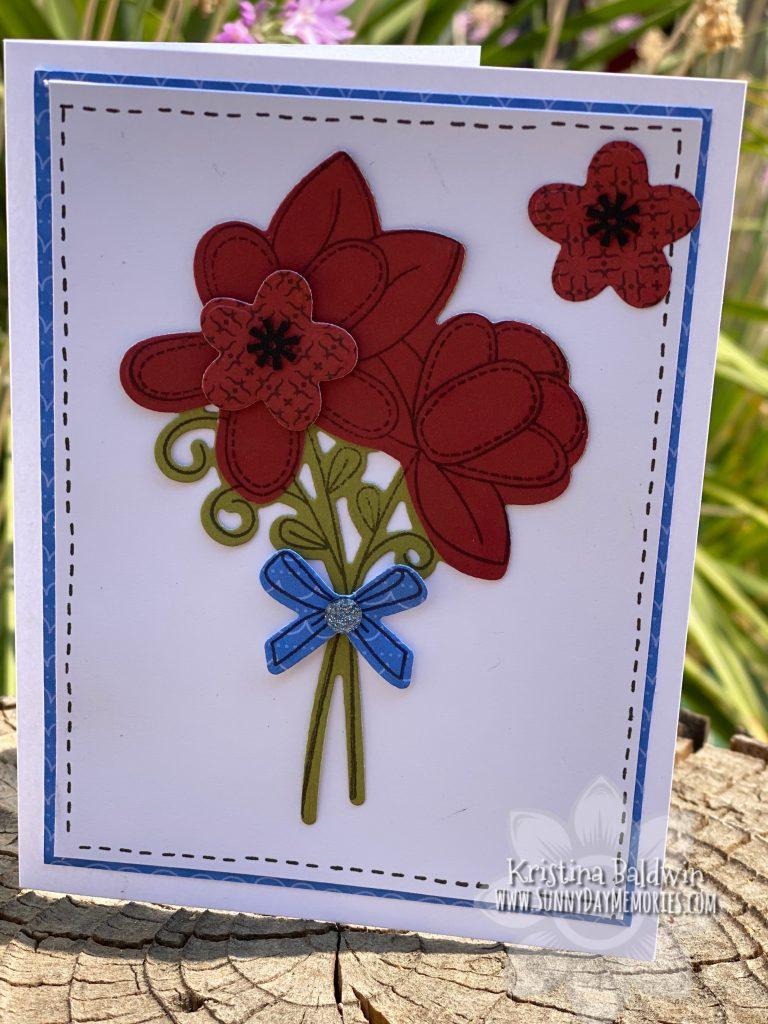 Stitched Florals Handmade Card