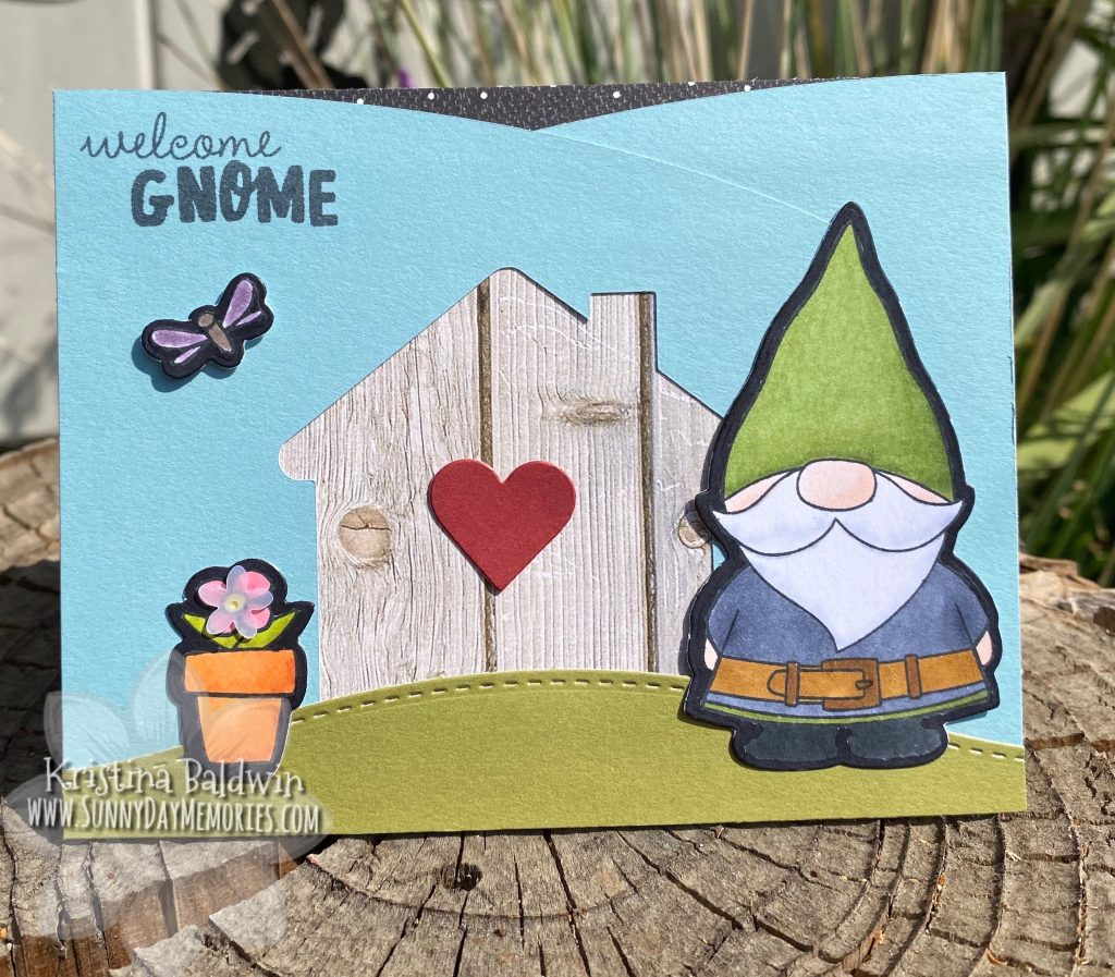 CTMH Welcome Gnome Handmade Card