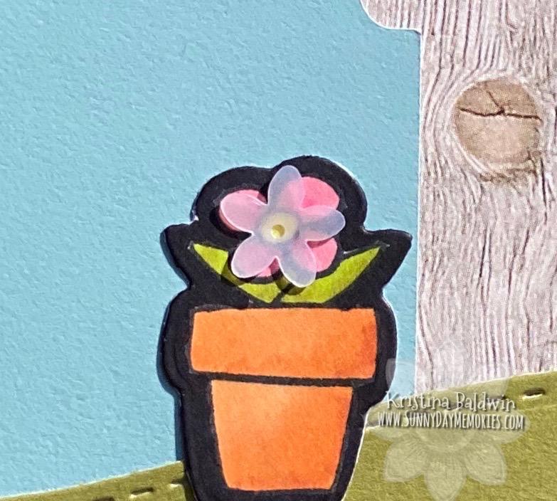 CTMH Welcome Gnome Handmade Card Closeup