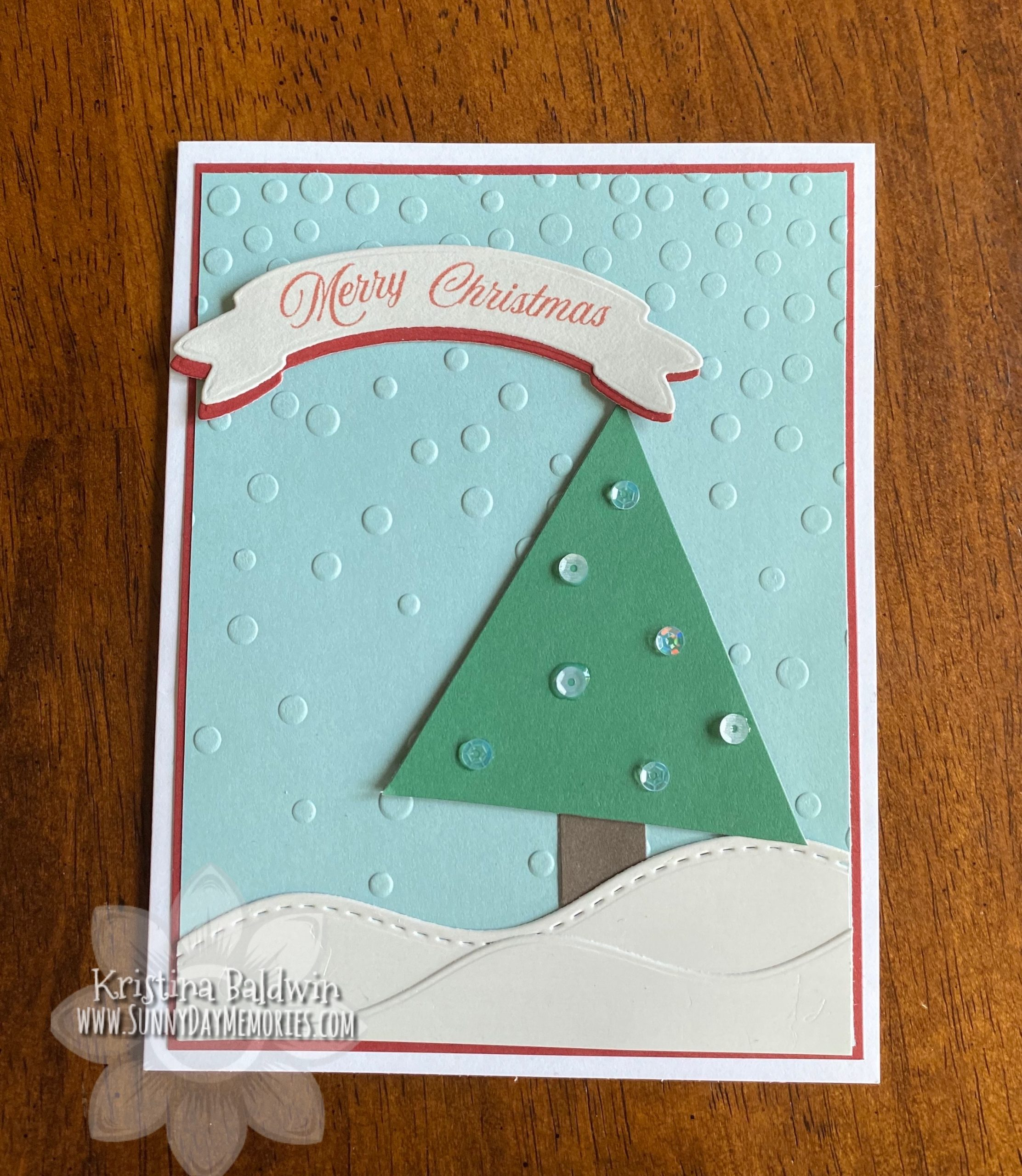 Handmade Merry Christmas Card