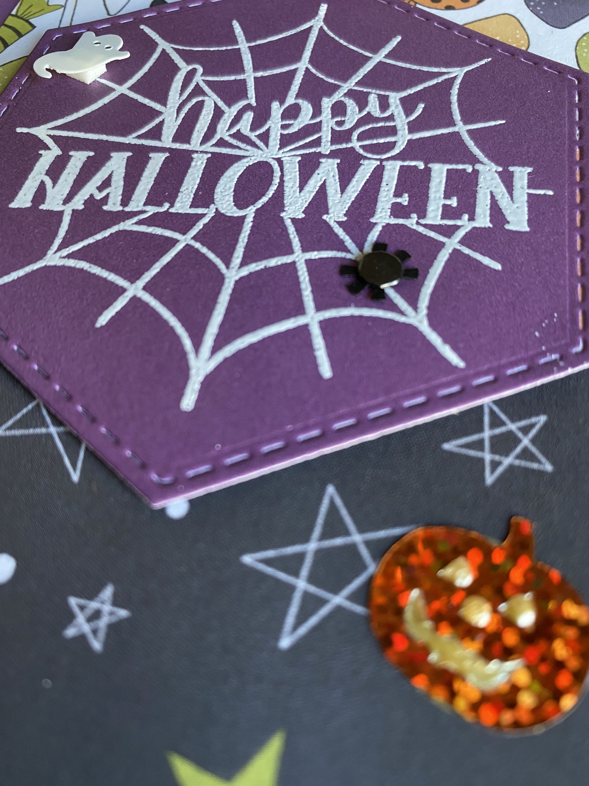 Halloween Spider Web Card
