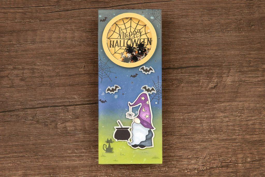 CTMH Happy Halloween Shaker Slimline Card