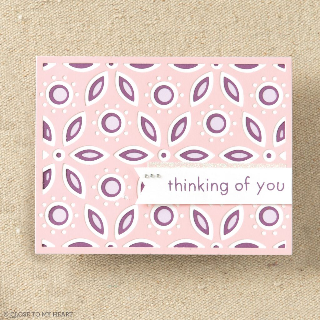 CTMH Layered Floral Backgrounds Thin Cuts Card