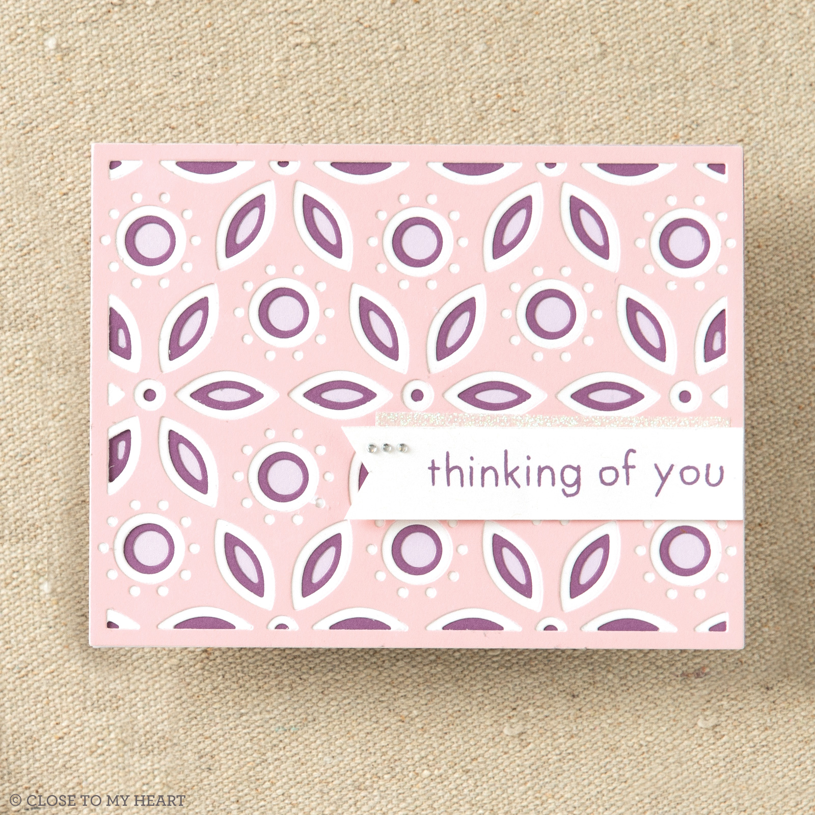 CTMH Layered Floral Background Thin Cuts Card