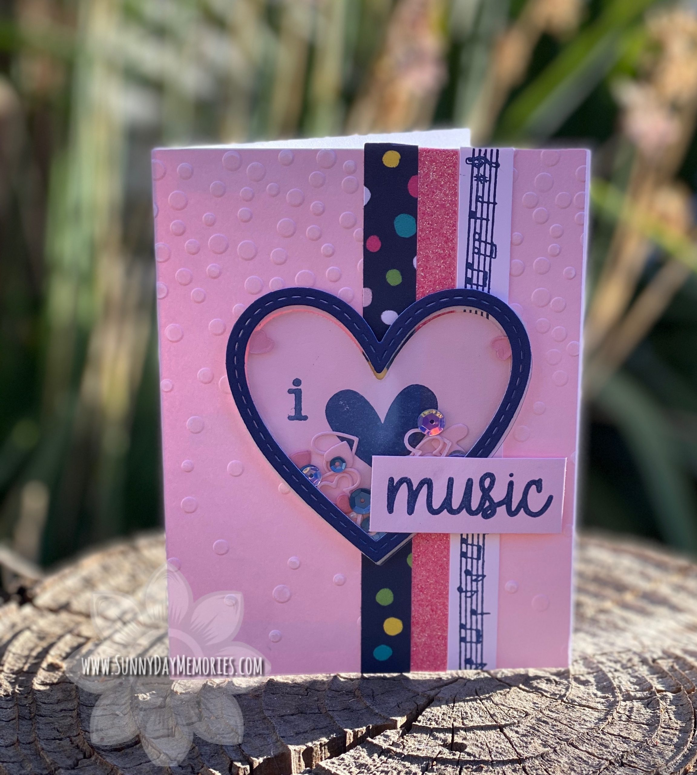 I Love Music Card
