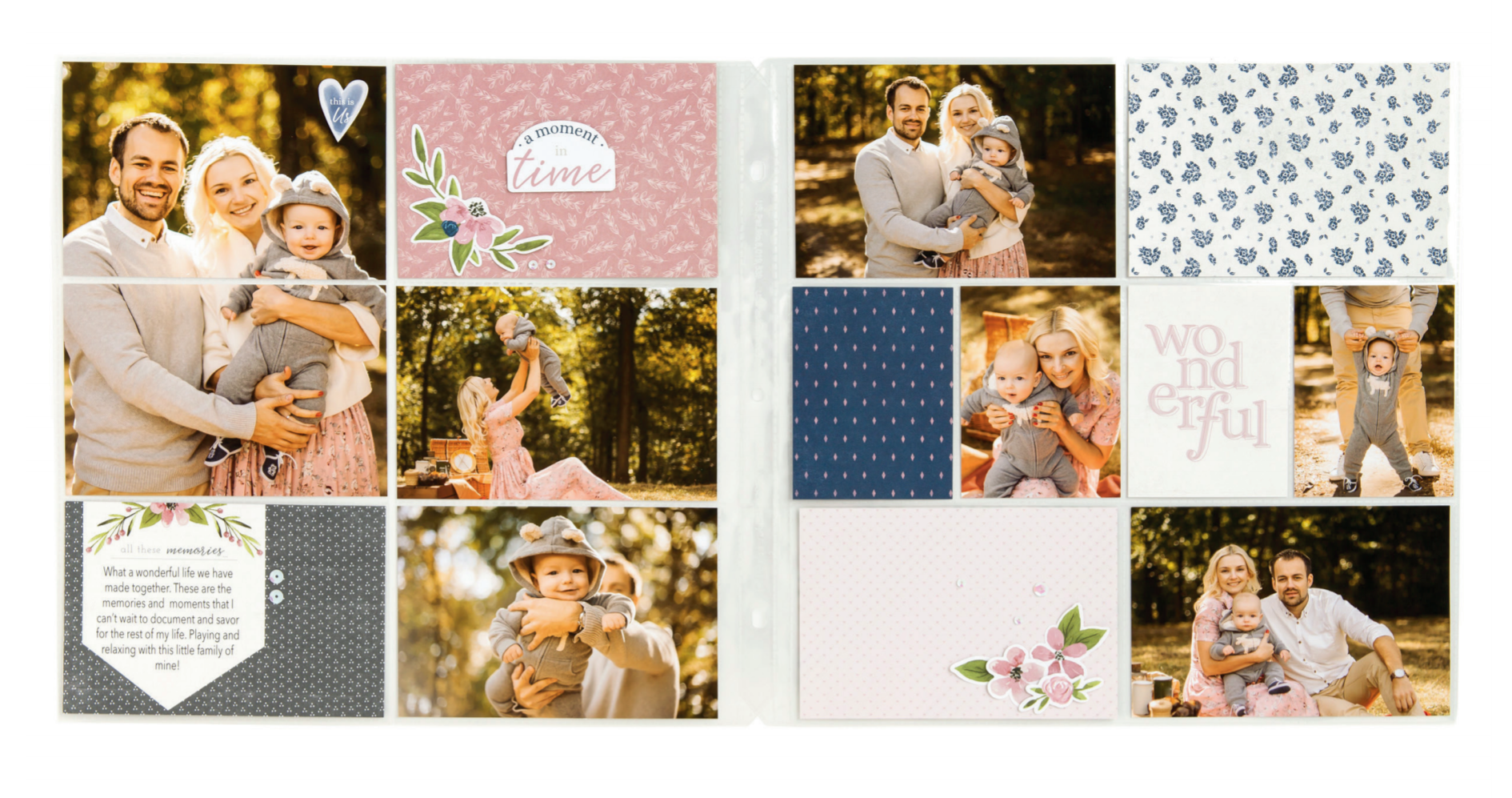 Pocket Scrapbooking Layout