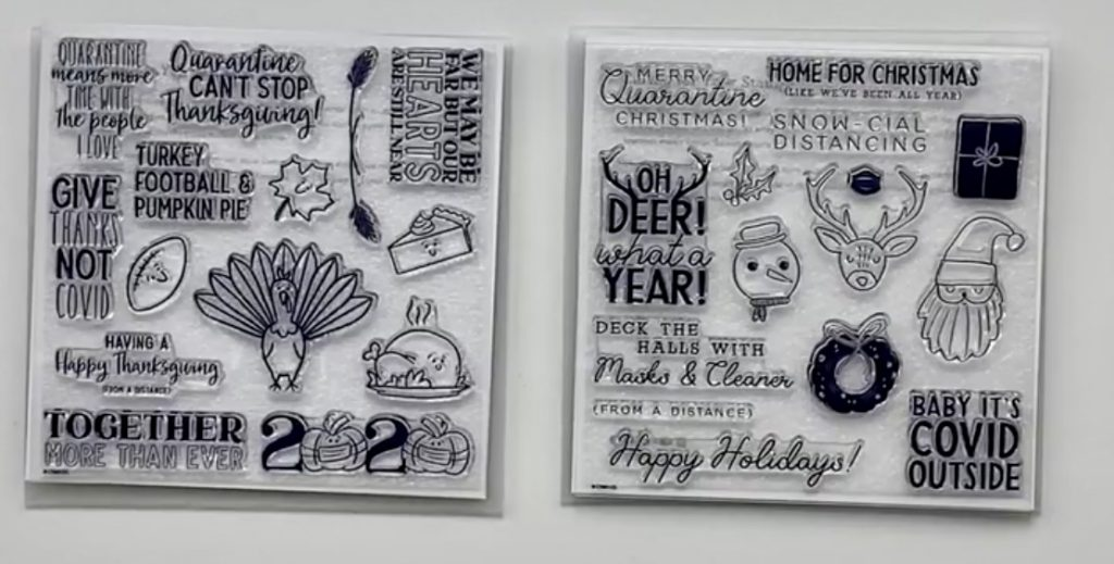 CTMH COVID Thanksgiving & Christmas Stamps