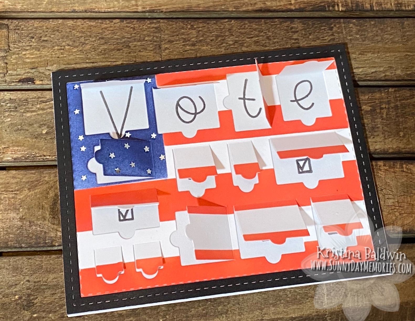 Vote Tabbed Door Card Open