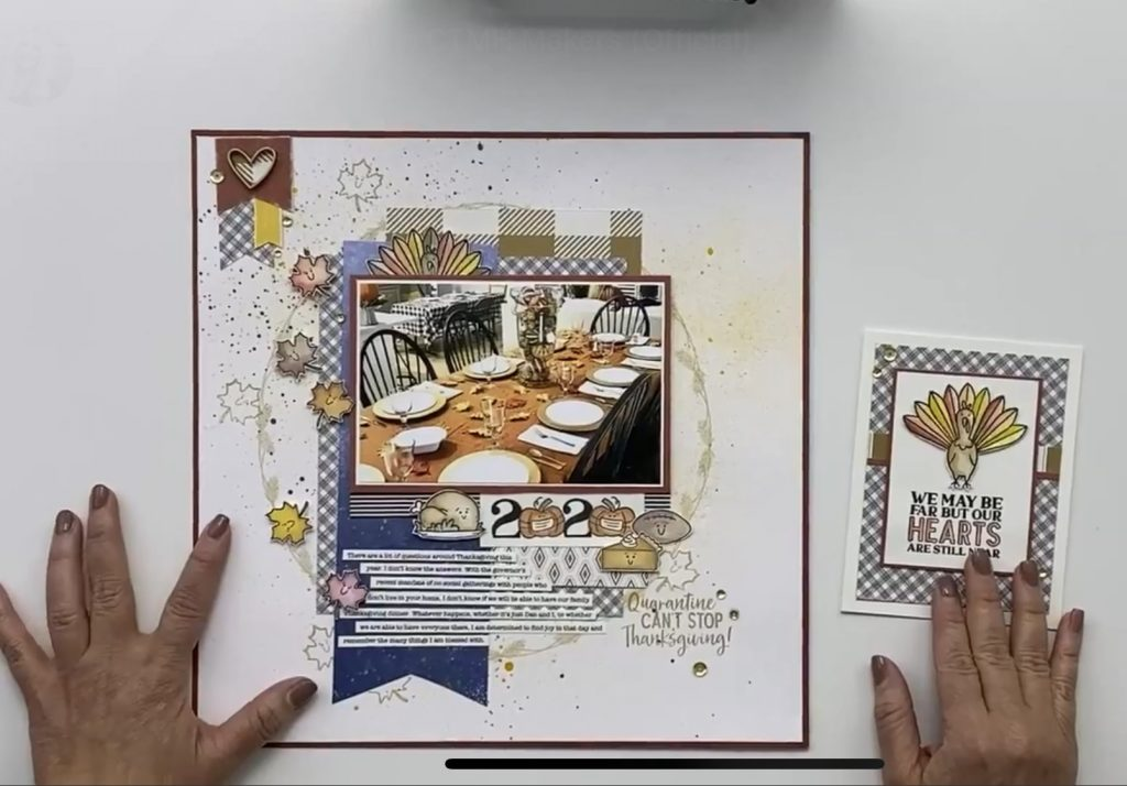 Sample Artwork with CTMH Covid Thanksgiving Stamp Set