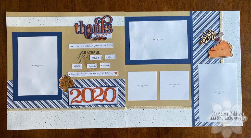 Thanksgiving 2020 Scrapbook Layout