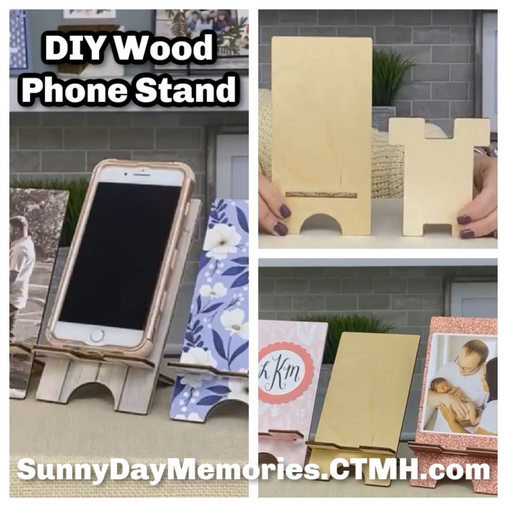 CTMH Cyber Monday DIY Wood Phone Stand