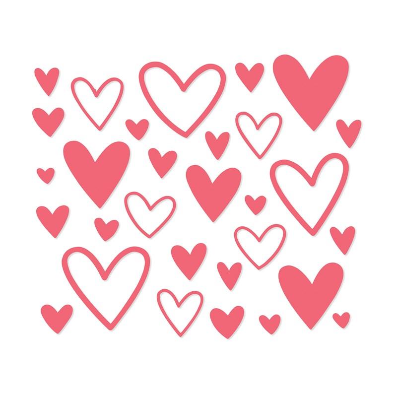 CTMH Pink Acrylic Hearts