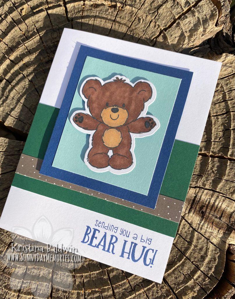 CTMH Teddy Bear Hugs Card