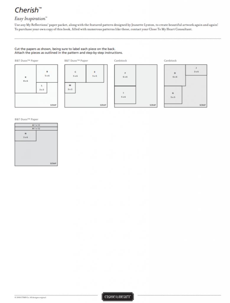 CTMH Cherish Easy Inpsiration Pattern Page 2