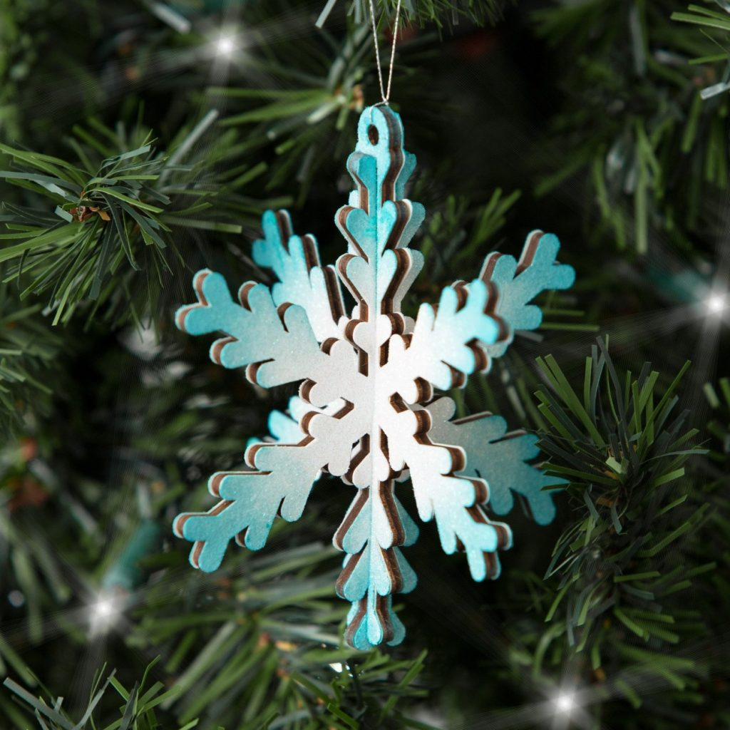 Sample CTMH Wood Snowflake Ornament