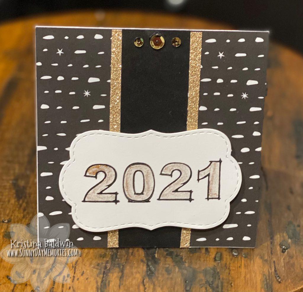 Glittery Handmade 2021 Card