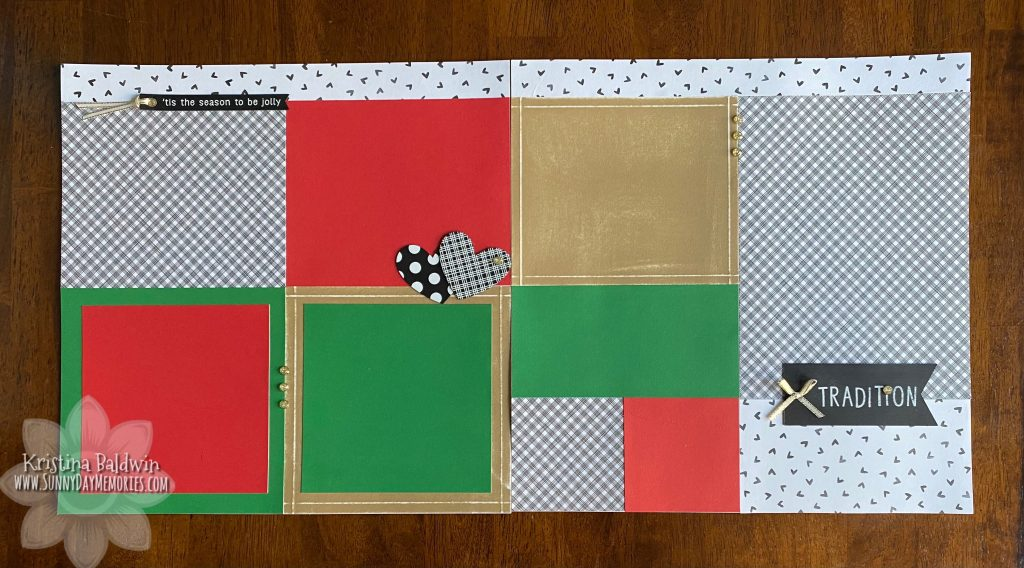 Holiday Tradition Scrapbook Layout