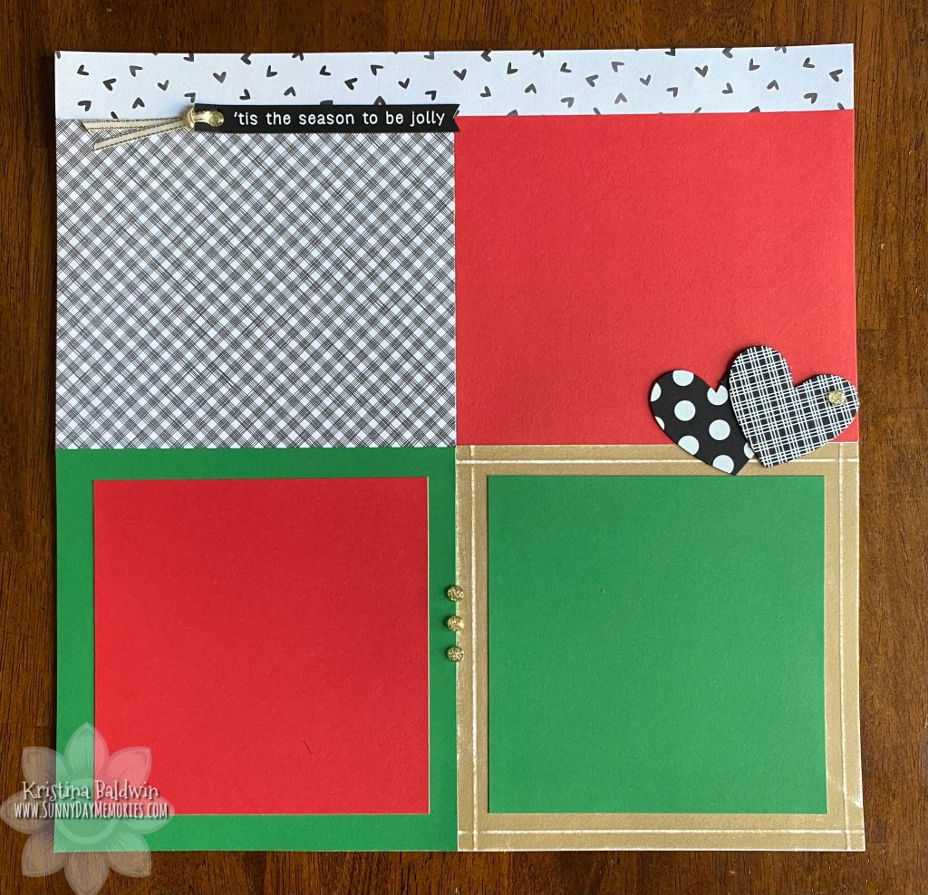 Left Holiday Tradition Scrapbook Layout