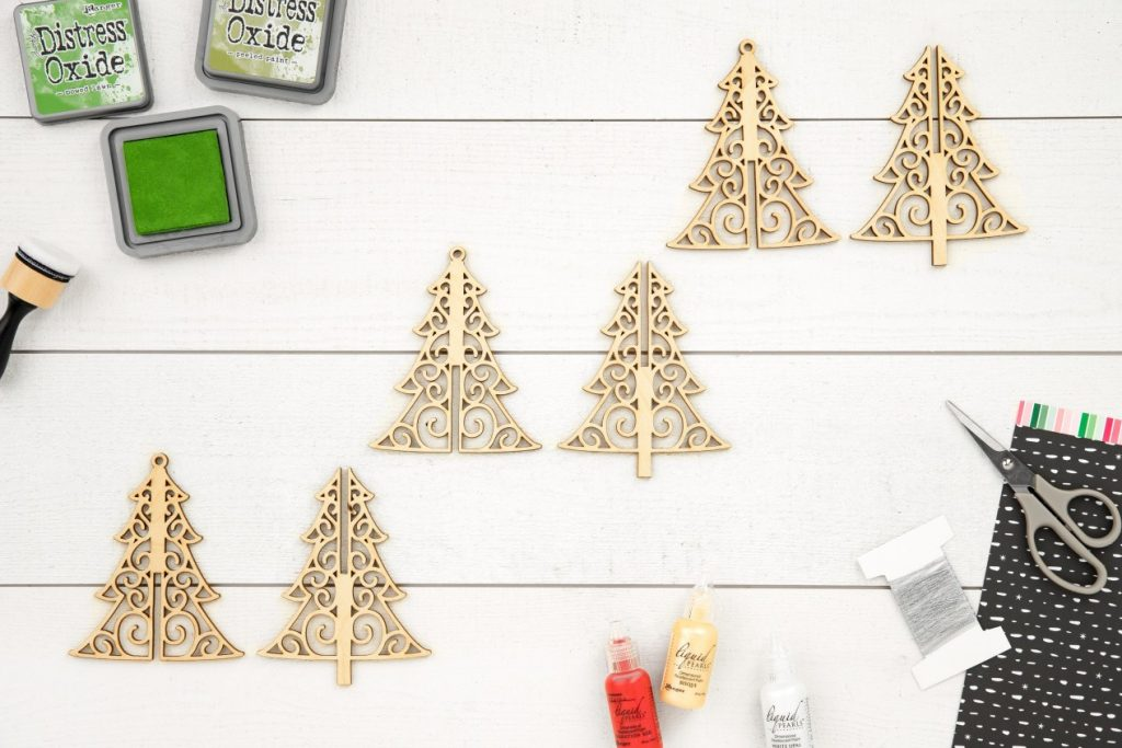CTMH DIY Wood Tree Ornaments