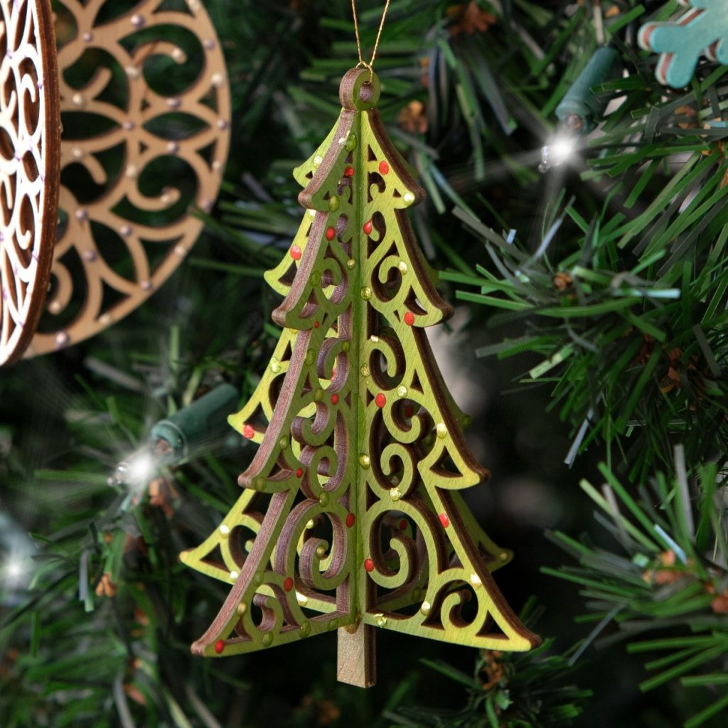 CTMH Sample Wood Tree Ornament