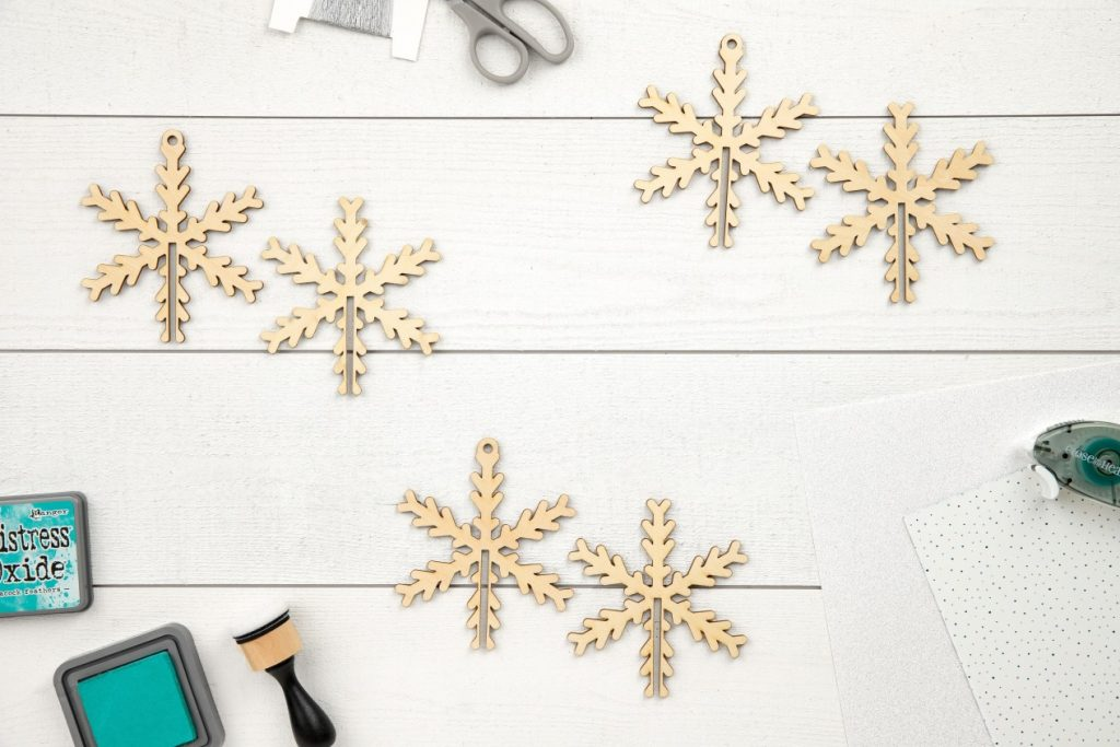 CTMH DIY Wood Snowflake Ornaments