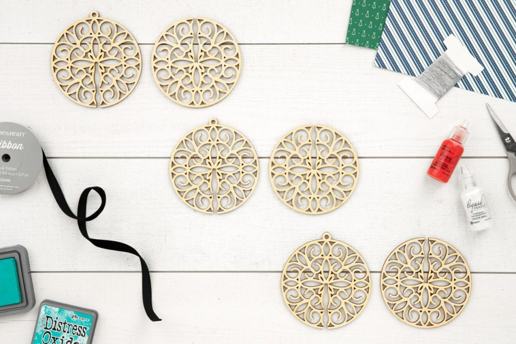 CTMH DIY Round Ornaments