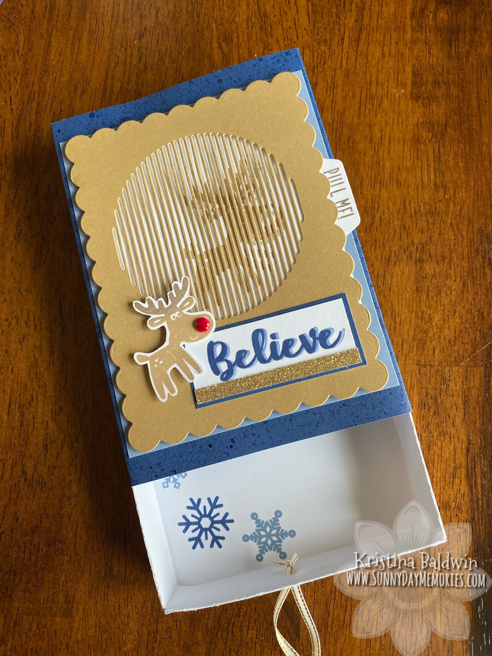 Believe Animated Reindeer Gift Box