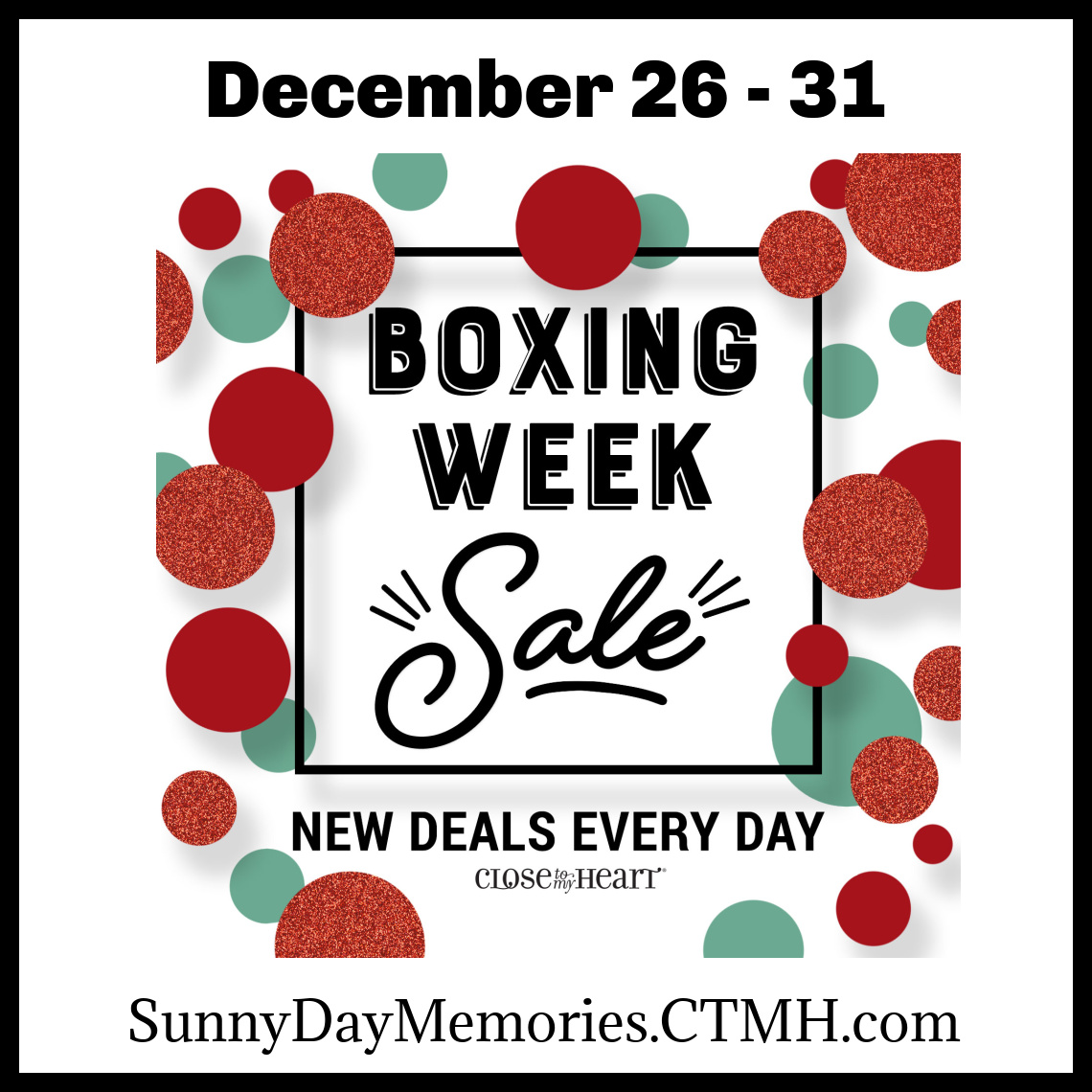 CTMH Boxing Week Sale