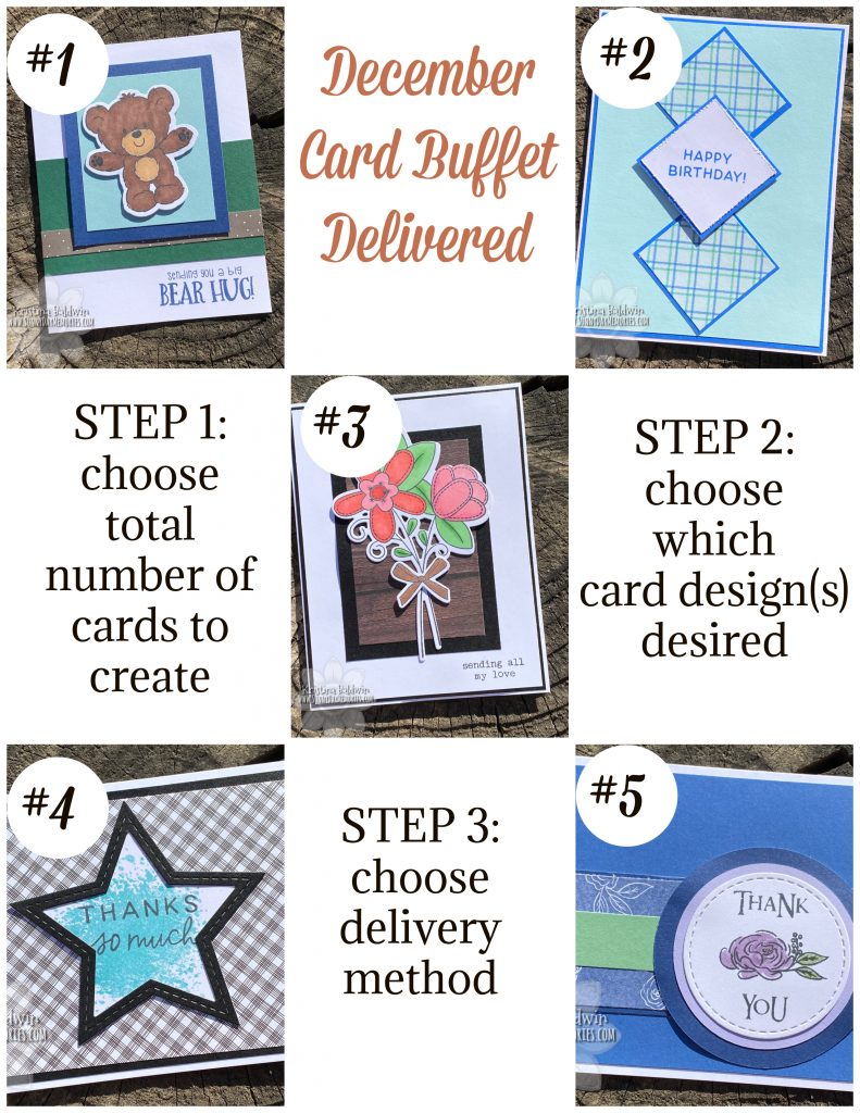 December SunnyDay Memories Card Buffet Delivered Options