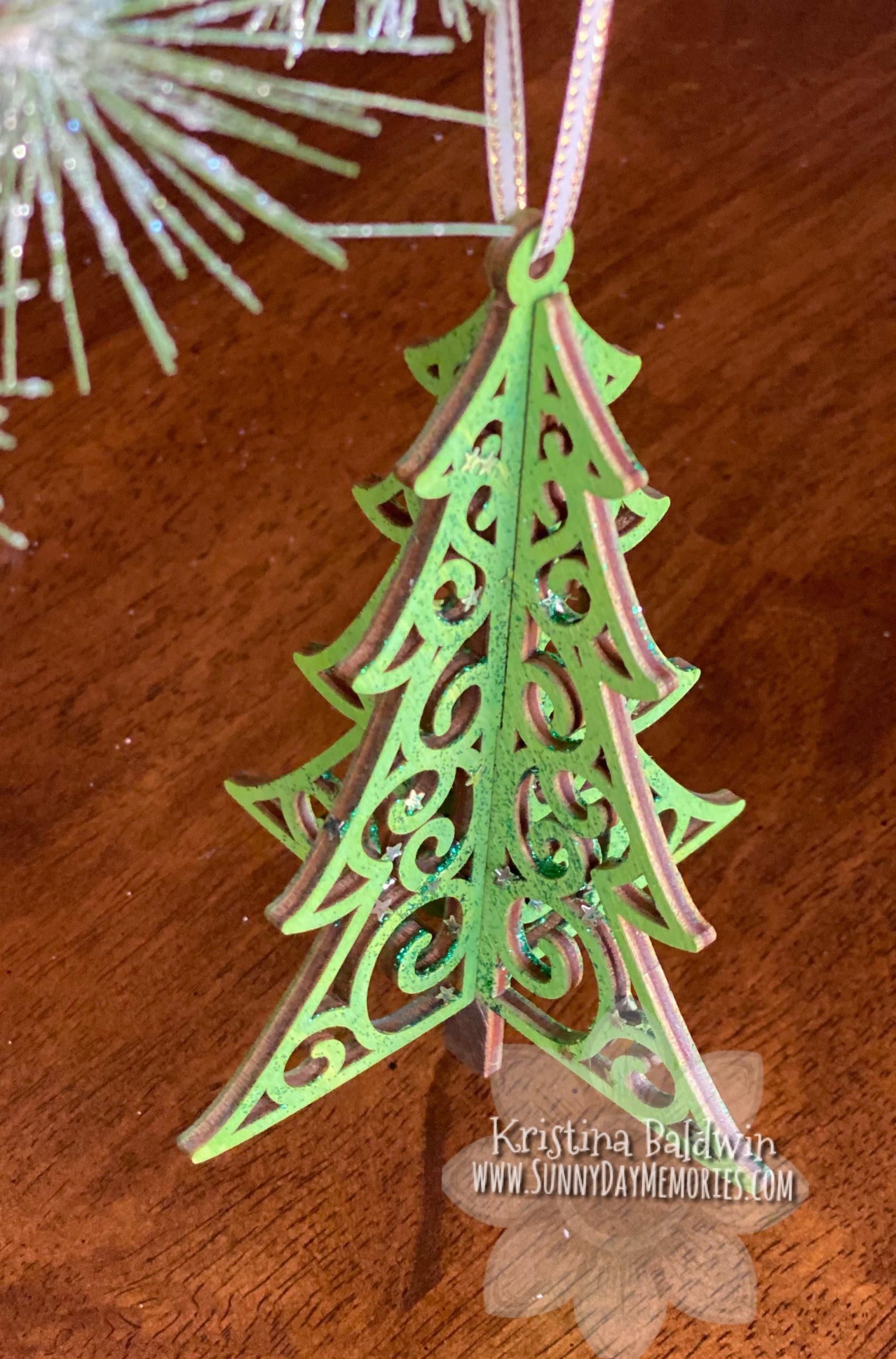 CTMH 3-D Wood Tree Ornament
