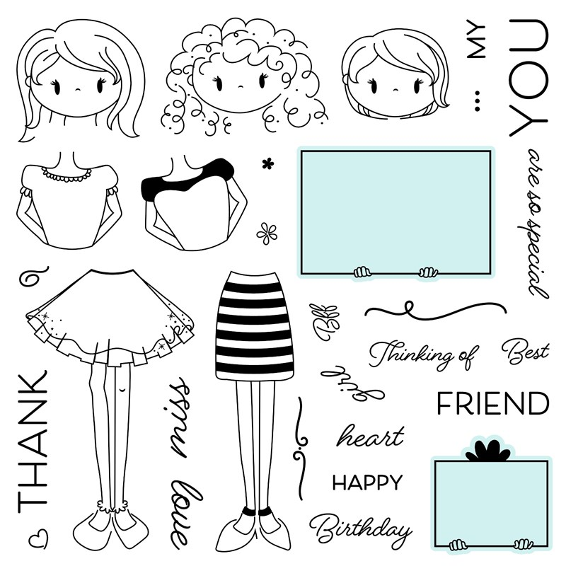 CTMH Little Miss Message Stamp Set