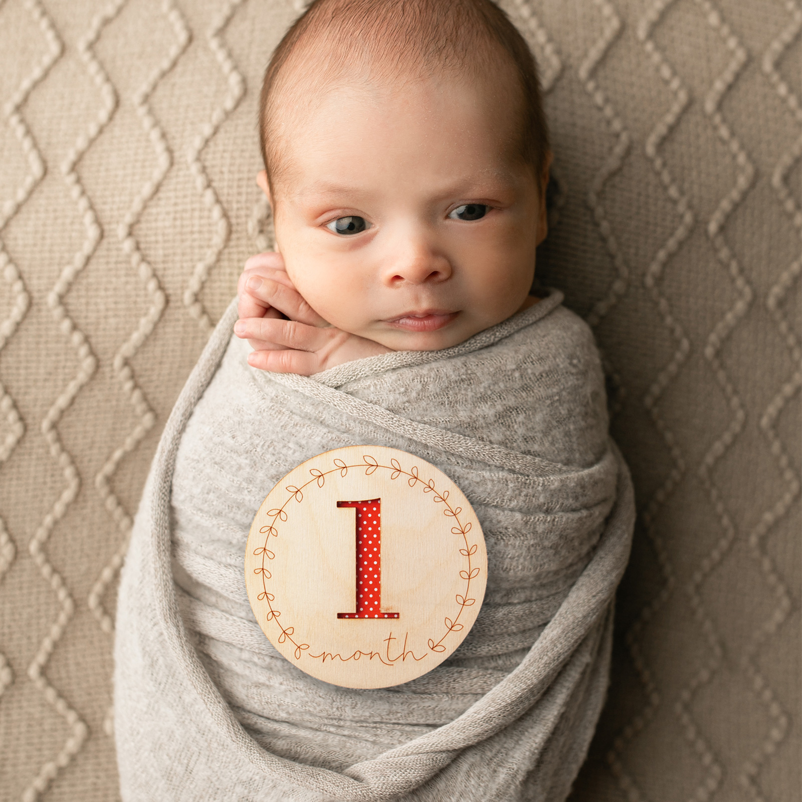Hello World Baby Milestone Marker Photo Prop