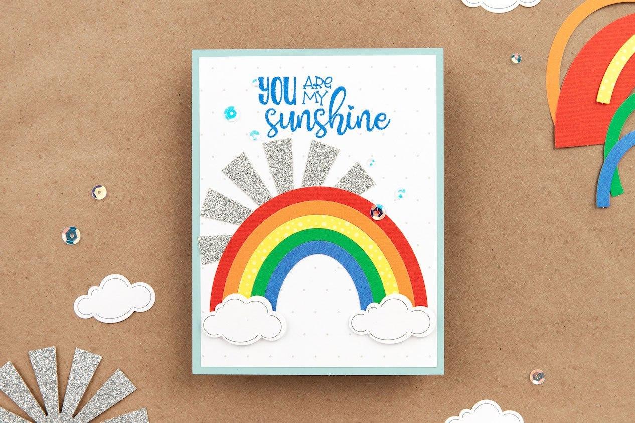 CTMH Home Sweet Home Rainbow Card