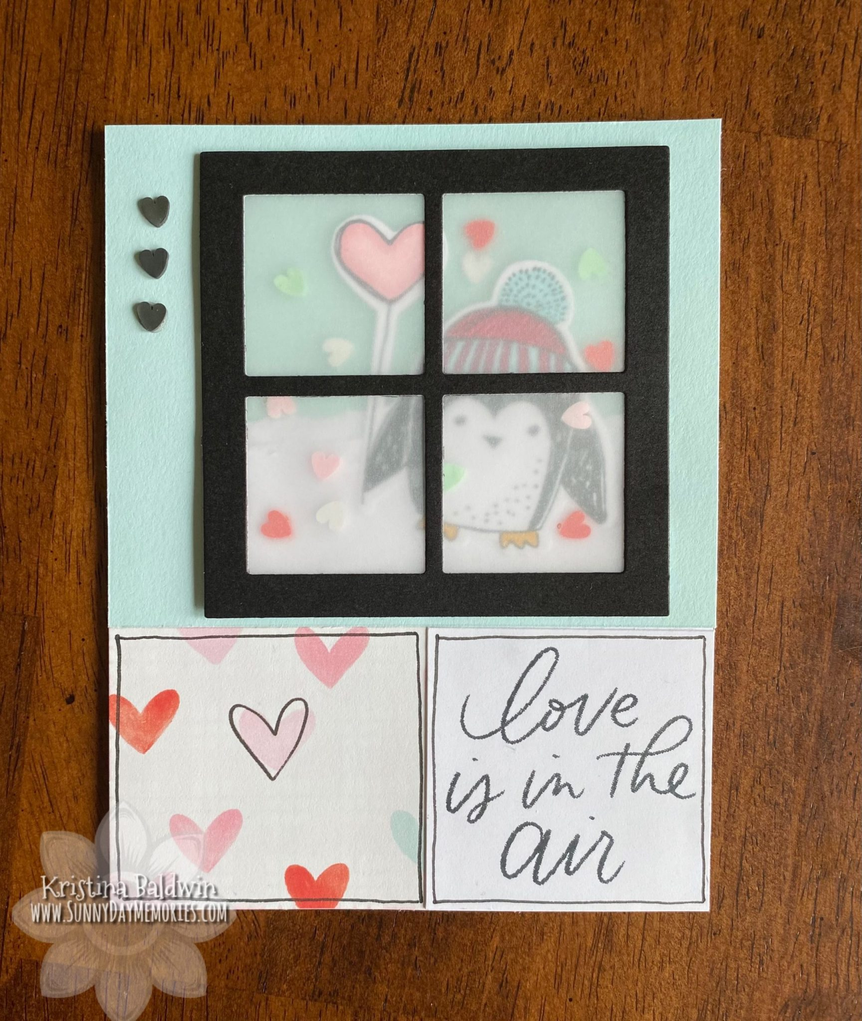 Love is in the Air Winter Penguins Card