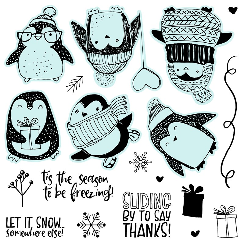 The Must-have CTMH Stamp Set Winter Penguins